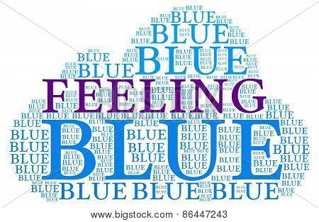 Feeling Blue Word Cloud