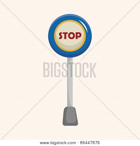 Travel Equipment Signpost Theme Elements
