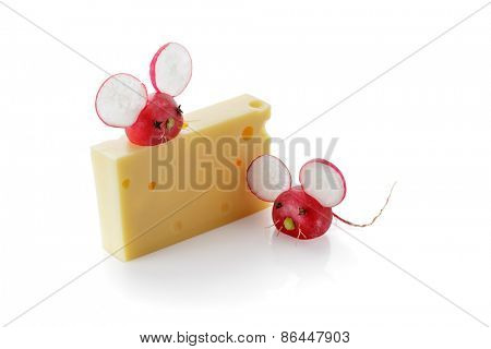 Cute Radish Mouse Garnish