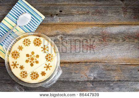 Decorative Milky Semolina Dessert