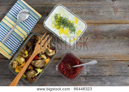 Healthy Meal Of Roasted Vegetables
