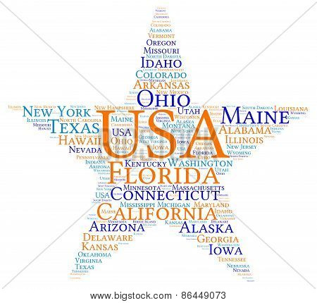USA Star Word Cloud