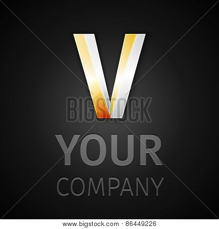 Abstract Vector Logo Letter V