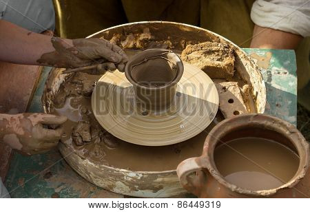 Pottery Creating Process
