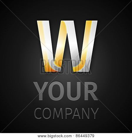 Abstract Vector Logo Letter W
