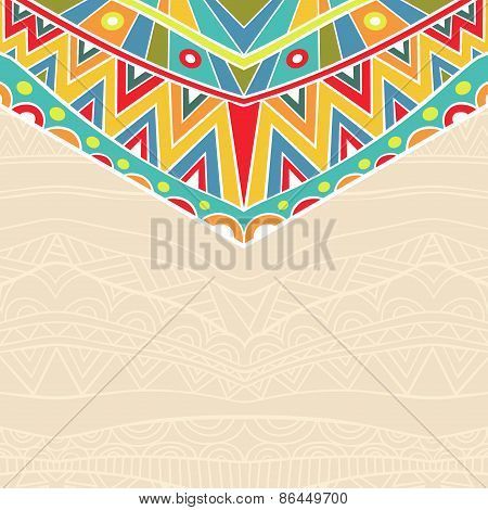 Background With Holiday Mexican Ornament