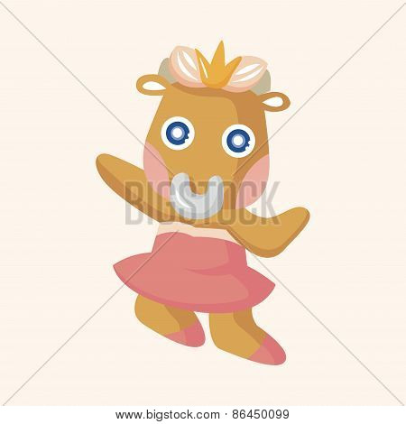 Animal Rattle Dancing Cartoon Theme Elements