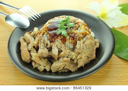 Pork Steak with Rice