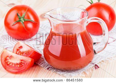 Pitcher Of Tomato Juice