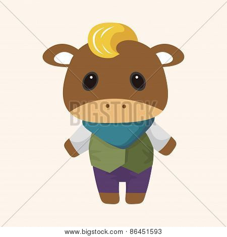 Animal Rattle Winter Cartoon Theme Elements