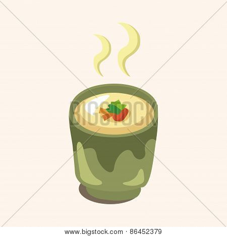 Steamed Eggs Theme Elements