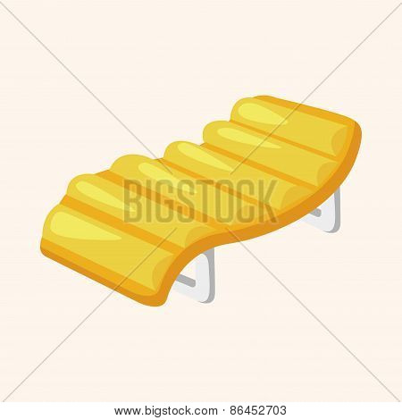 Beach Equipment Loungers Theme Elements