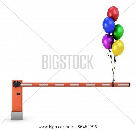 Barrier With Balloons
