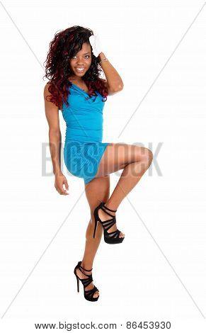Woman Lifting Leg.