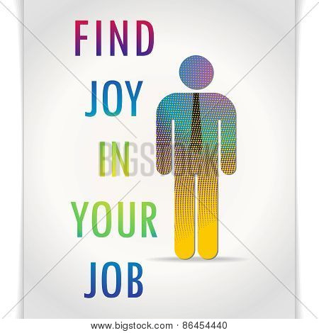Cheerful motivator poster