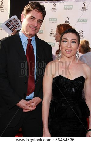 LOS ANGELES - MAR 26:  Zach Galligan, Naomi Grossman at the 50th Anniversary Screening Of