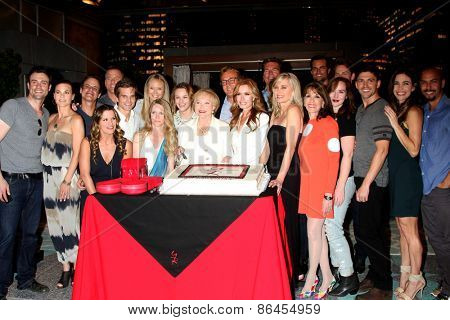 LOS ANGELES - MAR 26:  Young & Restless Cast at the Young & Restless 42nd Anniversary Celebration at the CBS Television City on March 26, 2015 in Los Angeles, CA