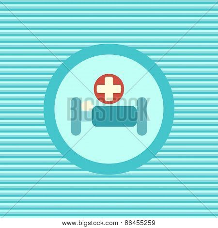 Hospital Bed Color Flat Icon