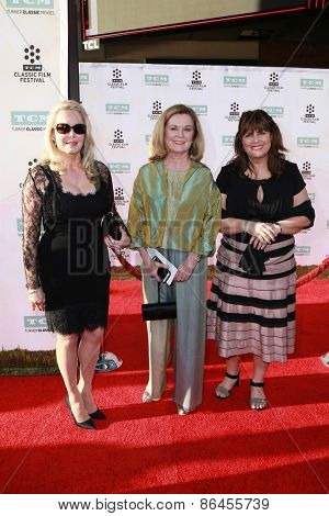 LOS ANGELES - MAR 26:  Debbie Turner, Heather Menzies-Urich, Kym Karath at the 50th Anniversary Screening Of