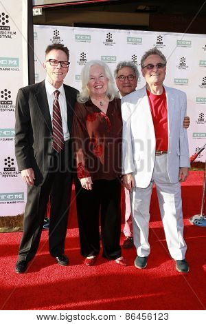 LOS ANGELES - MAR 26:  Michael Tucci, Kelly Ward, Jamie Donnelly, Barry Pearl at the 50th Anniversary Screening Of