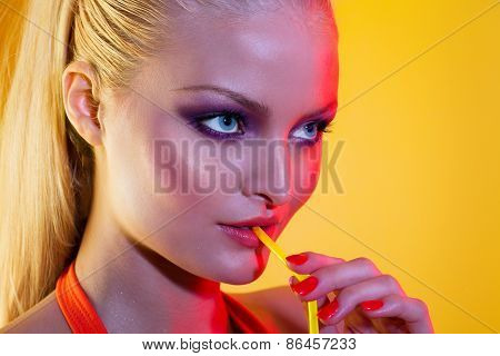 Woman With Party Look