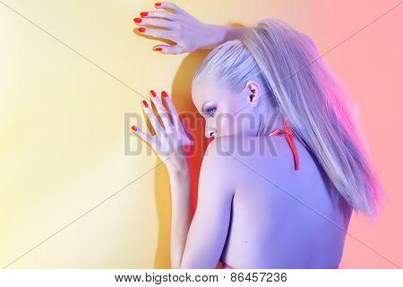 Model At Wall