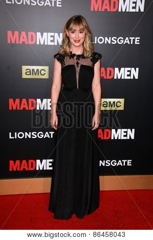 LOS ANGELES - MAR 25:  Stephanie Drake at the Mad Men Black & Red Gala at the Dorthy Chandler Pavillion on March 25, 2015 in Los Angeles, CA