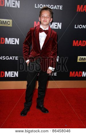 LOS ANGELES - MAR 25:  Mason Vale Cotton at the Mad Men Black & Red Gala at the Dorthy Chandler Pavillion on March 25, 2015 in Los Angeles, CA