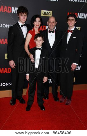 LOS ANGELES - MAR 25:  Matthew Weiner at the Mad Men Black & Red Gala at the Dorthy Chandler Pavillion on March 25, 2015 in Los Angeles, CA
