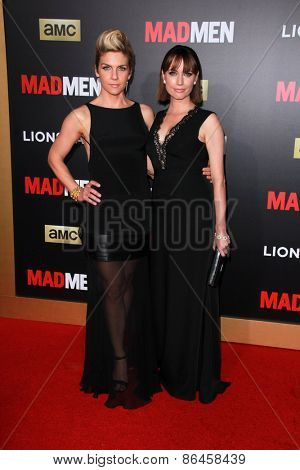 LOS ANGELES - MAR 25:  Rhea Seehorn, Julie Ann Emery at the Mad Men Black & Red Gala at the Dorthy Chandler Pavillion on March 25, 2015 in Los Angeles, CA