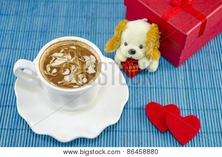 Artisan Coffee And A Valentine's Present Box