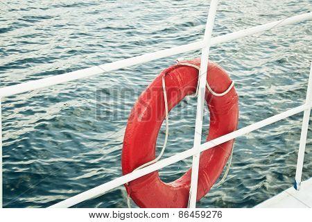 Red lifebuoy