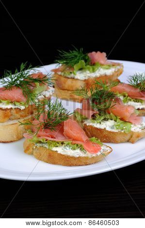 Sandwich With Salmon