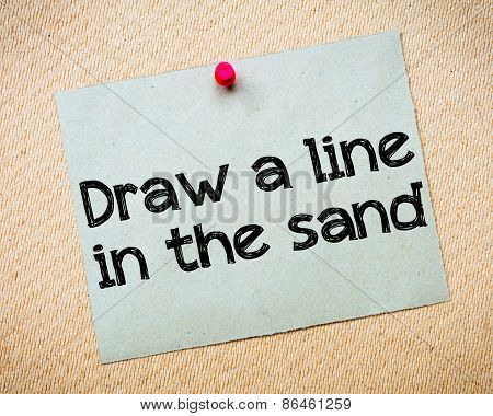 Draw A Line In The Sand