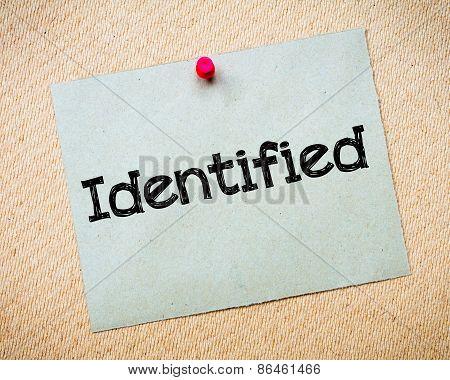 Identified
