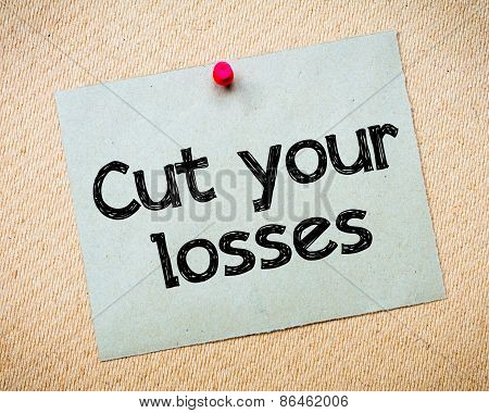 Cut Your Losses