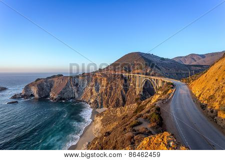 California Coastline at Sunset