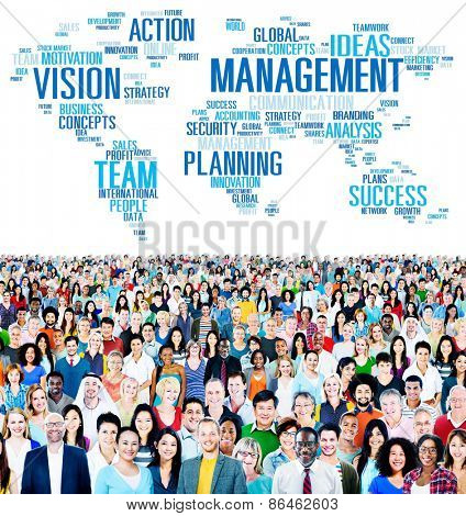 Management Vision Action Planning Success Team Business Concept