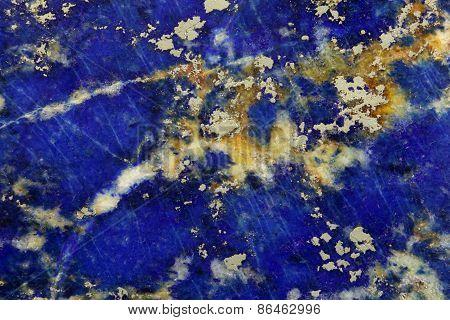 Polished Surface Of Lapislazuli