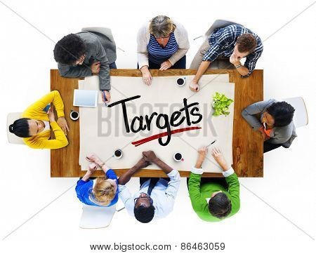 People in a Meeting and Single Word Target