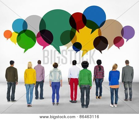 Casual People Message Talking Communication Concept