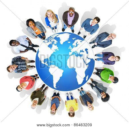 People Global Diversity Multiethnic Group Concept