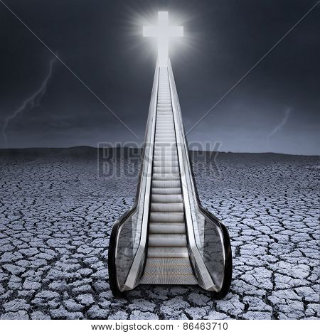 Escalator To The Cross On Dry Land