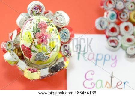Handmade Decoupage Easter Egg