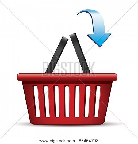 Shopping basket.Vector