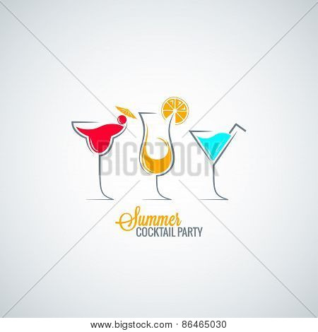 cocktail summer party menu background