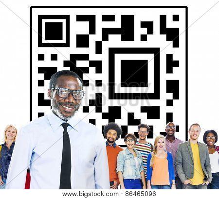 QR Code Marketing Identity Concept