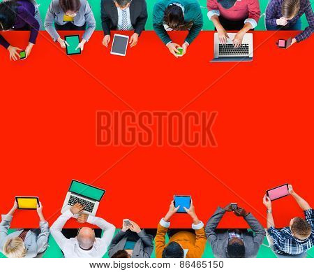 Digital Device Online Internet Wireless Technology Communication Concept