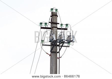 Power Transmission Pillar. Isolated