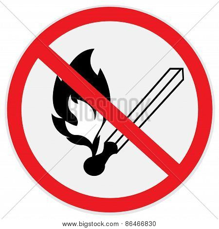 No, open, fire, no smoking, sign